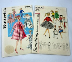 Barbie Fashion 11 Inch Doll Clothes 2 Sewing Patterns Bridal Dress Vintage 1960s - $26.99
