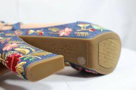 Jessica Simpson Divella Damen High Heels Offen Sandalen Denim Stickerei Größe 7 image 11