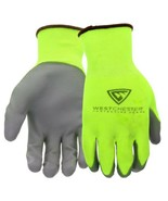 3-PAIR WEST CHESTER TOUCH SCREEN Hi-Vis YELLOW PU PALM  COATED NYLON GLOVES - $14.49