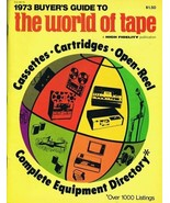 ORIGINAL Vintage 1973 High Fidelity Buyer's Guide to the World of Tape M... - $27.86