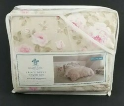 Shabby Chic Full/Queen 3 piece Duvet Cover Set Duchess Rose Blossom Flor... - $98.99