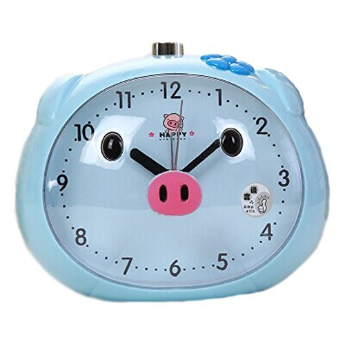 Koala Superstore Children Creative Cartoon Pig Alarm Clock Student Wake Up Clock - $24.94