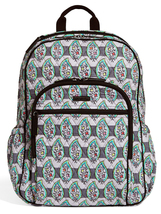 Vera Bradley Signature Cotton Campus Tech Backpack, Paisley Stripes image 1
