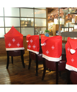 1pcs Santa Claus Cap Chair Cover Christmas Dinner Table Party Red Hat Ch... - $16.00