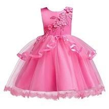 OwlFay Flower Girl Wedding Dresses Princess Bridesmaid (9-10 Years|Hot P... - $29.50