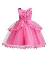 OwlFay Flower Girl Wedding Dresses Princess Bridesmaid (9-10 Years Hot Pink) - $29.50