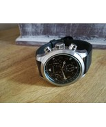 Vintage chronograph watch / black dial / mans watch / Gents  / Newton so... - $209.00