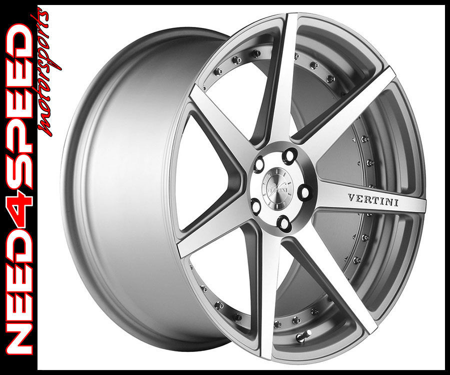 """19"""" Vertini Dynasty Machined Face Silver 19x8.5 Wheels For"""