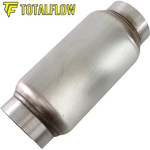 3 Inner Inlet-3 Outer Diameter Outlet TOTALFLOW 2105 Mini Muffler 409SS 4 Round Width 10 Body 12 Overall Length