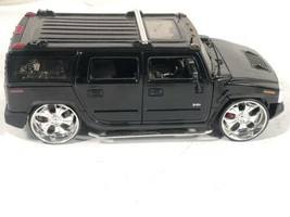 Jada Toys 1:24 Dub City 2003 Hummer H2 SUV Lowrider Black - $24.74