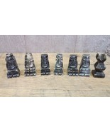 Chess pieces Marble Onyx Carved Stone Mayan Aztec Replacement 7 Pieces v... - $10.29