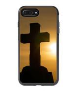 Skin Decal Wrap for Iphone 8 Plus Symmetry Otterbox Case Cross Faith Jesus - $7.99