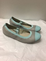 Blue And Gray Leather Clarks Flats Size 3.5 - $22.76