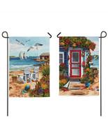 "Evergreen Garden Flag ""Sea Shore"" Double Sided-  (One)- 12"" x 18"" Mini F... - $12.99"