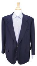 * SULKA * Bespoke Navy Blue Woven Cashmere w/ Metal Button 2-Btn Blazer 46S - $210.00