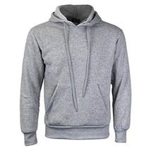 vkwear Men's Athletic Drawstring Fleece Lined Sport Gym Sweater Pullover Hoodie