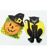 Halloween Black Cat Pumpkin Diecuts Holiday Decorations Art Supplies 197... - $10.99