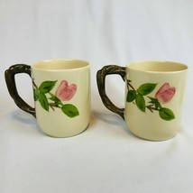 Lot 4 Large Franciscan Desert Rose Grand Coffee Cocoa Mugs Cups Twisted Handle - $72.22