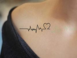 Waterproof Temporary Tattoo Sticker of body Love wave tattoo small size tatto st - $20.68