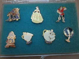 DISNEY Cast Members Beauty and the Beast Pin Set Vintage 90's Belle Chip Gaston - $150.00