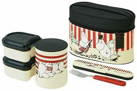 Skater keep warm lunch jar bento box Moomin stripe 560ml KCLJC6 new Japan - $75.55