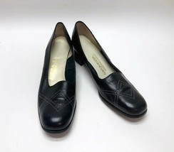 Naturalizer Womens Funsters Black Leather Round Toe Pumps Shoes Size 8 AA - $24.62