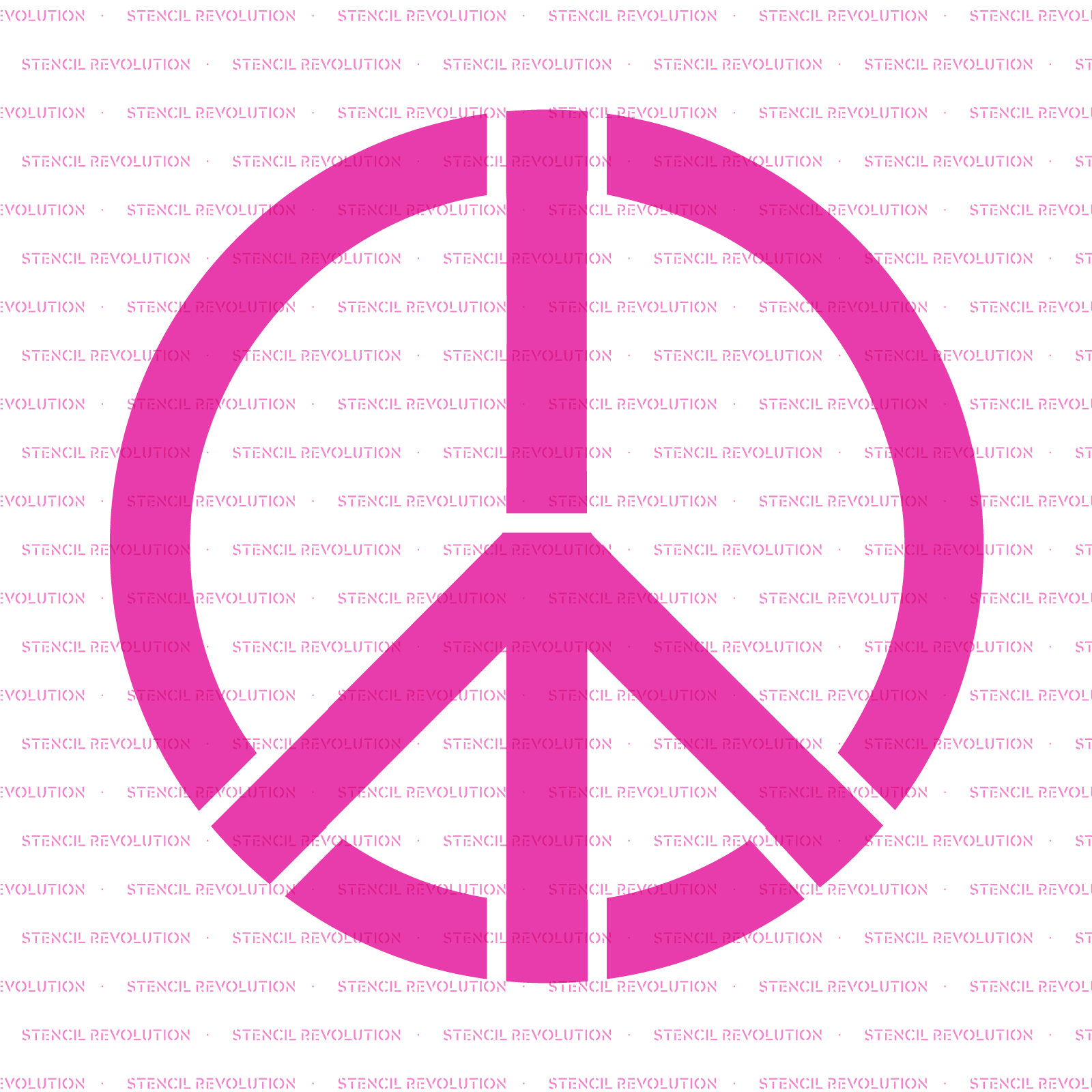 Peace Sign Stencil - Reusable Stencils of Peace Sign in Multiple Sizes