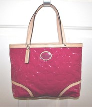 Coach Peyton Patent Leather Embossed Top Handle... - $77.21