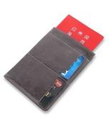 Passport Sleeve Wallet RFID Blocking Premium Italian Genuine Leather - $9.53