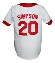 Homer Simpson Springfield Isotopes Button Down Baseball Jersey White Any Size image 4