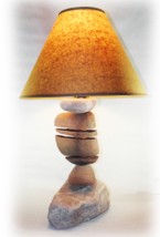 SPLIT ROCK Rustic  Table Lamp. fits most decors, like, western, southwes... - $249.95