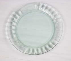 "COCA-COLA Clear Glass 10.25"" Embossed Collectible Plates COKE - $18.99"