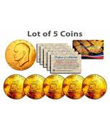 """Bicentennial 1976 Eisenhower Ike Dollar 24KT Gold """" 5 Münze Menge """"! COA & - $869,51 MXN"""