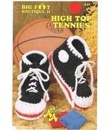 Big Foot Boutique High Top Tennies to Crochet P... - $3.99