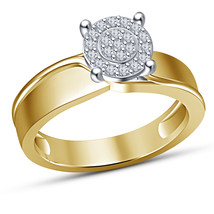 Yellow Gold Over 925 Pure Sterling Silver Girls Wedding Engagement Diamo... - $65.99