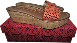 Tory Burch Daisy Wedge Laser Cut Out Cork Slides Sandals Shoe Clogs 9.5-... - $129.91