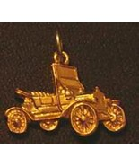 COOL Gold Plated Car Charm Jewelry Ford model T Silver .925 - $18.35