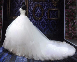 Plus sized Beaded Ball Gown Wedding Dress  at Bling Brides Bouquet Online Bridal image 3