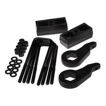 "Steel 3"" Front + 1.5"" Rear Black Lift Level Kit Fits 88-99 Chevrolet K1500 4WD - $149.10"