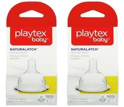 Playtex NaturaLatch Nipples 0-3 Mos Slow Flow Silicone - 2 Packs (4 Nipples) - $33.98