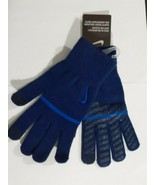 Nike Swoosh Knit Gloves Cool Blue Dark Blue Boy Girl S/M new with tags a... - $15.68