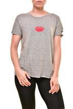 Wildfox Da Donna Pucker Up T-Shirt Grigio S - $41.78