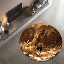 3D Hills Bear Animal 005 Non Slip Rug Mat Room Mat Round Elegant Carpet ... - $106.68+