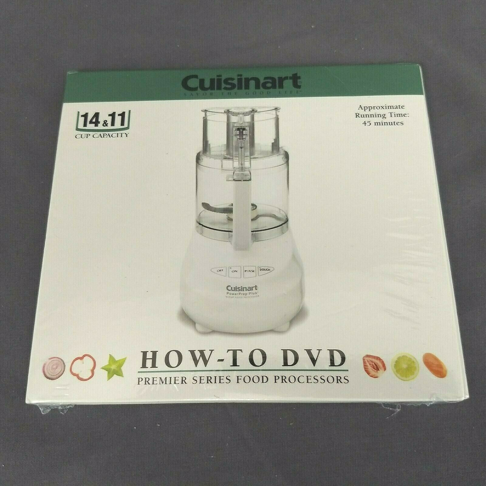 Primary image for Cuisinart Instruction How-to DVD for 11 & 14 Cup Capacity Food Processors NEW