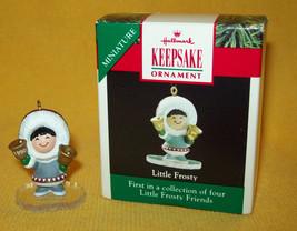 1990 Hallmark Little Frosty Mini Christmas Holiday Tree Ornament With Box - $4.94