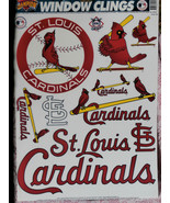 St. Louis Cardinals Window Stickers by Champion, Color Clings, Static St... - $12.86
