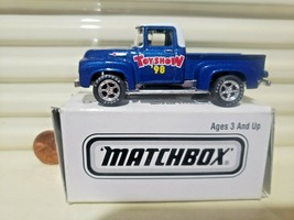 Matchbox 1998 Hershey Pa Toy Show Superfast 1956 Ford Pickup Truck Nu In Exc Box - $21.95