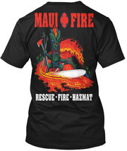 Volunteer Maui Frefighter - Fire Fd Rescue.fire.hazmat Hanes Tagless Tee... - £17.45 GBP