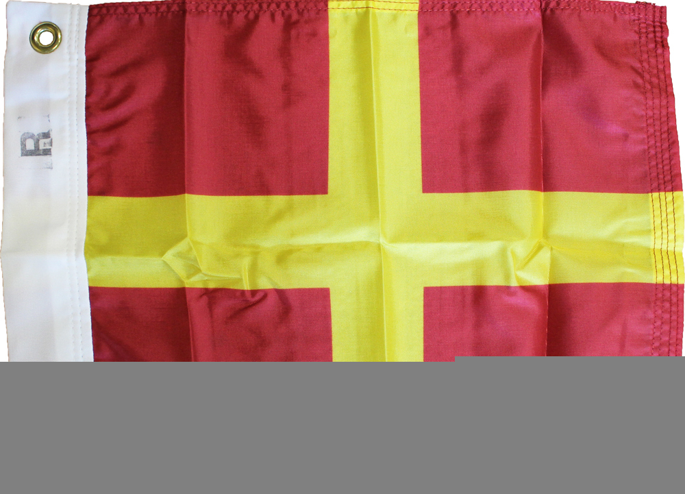 Letter R - Nautical Code Signal Nylon Flag
