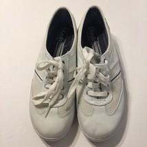 Woman's White Canvas Keds Tennis Shoes Sz 9.5M  - $14.99